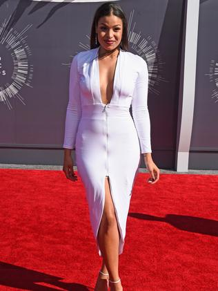 Jordin Sparks attends the 2014 MTV Video Music Awards.