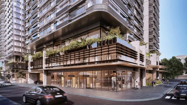 Duo at Central Park in Sydney offers trendy amenities like a rooftop barbecue area and other communal spaces.