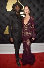 Gary Clark Jr. and Nicole Trunfio attend The 59th GRAMMY Awards at STAPLES Center on February 12, 2017 in Los Angeles, California. Picture: Getty