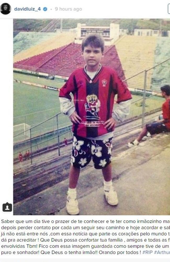 David Luiz's Instagram tribute.