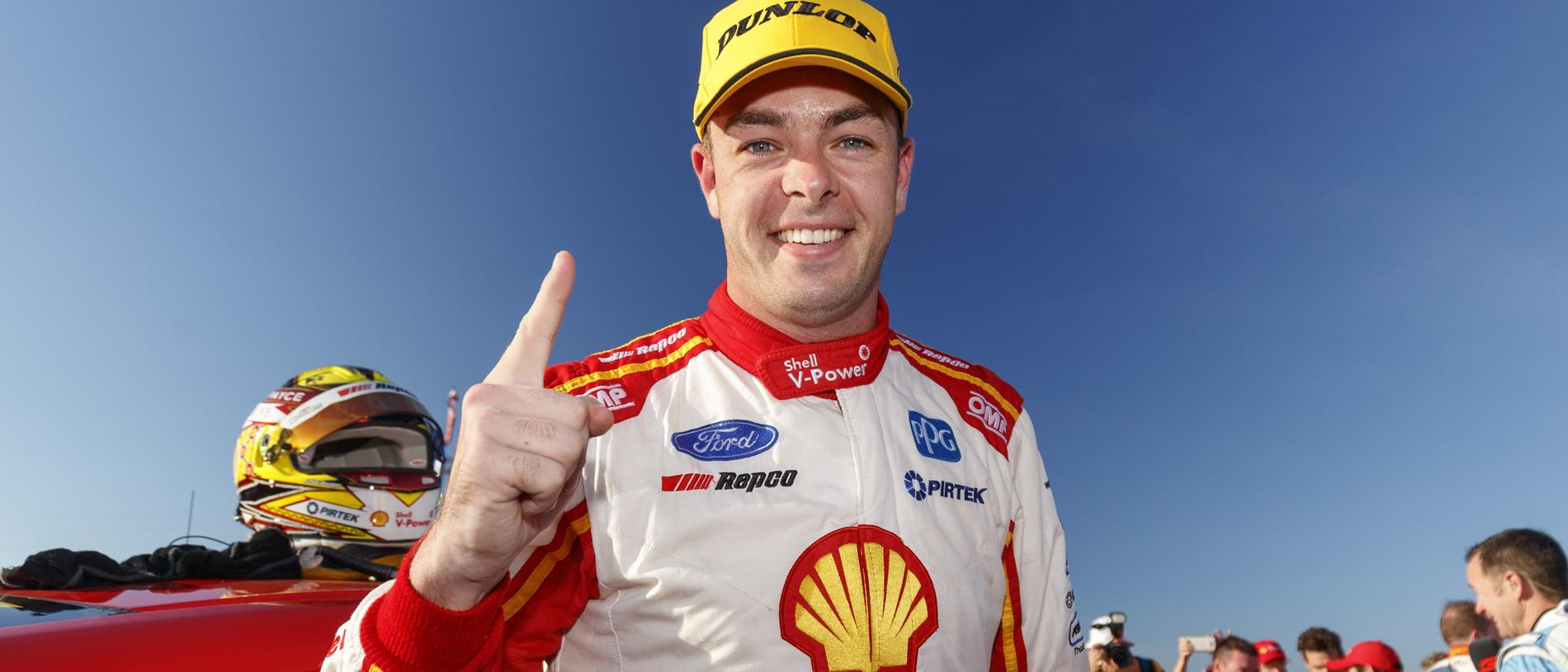 A supplied image of Supercars driver Scott McLaughlin winning the opening race of the BetEasy Darwin Triple Crown SuperSprint Event 7 of the Virgin Australia Supercars Championship in Darwin, Saturday, June 15, 2019. (AAP Image/Mark Horsburgh) NO ARCHIVING, EDITORIAL USE ONLY