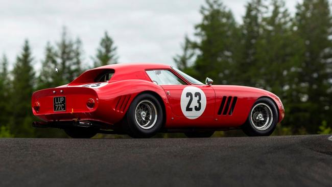 1962 Ferrari 250 GTO is the most expensive car ever sold at auction.