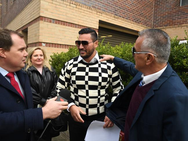 Mehajer no worse for wear after a night in the slammer over bail conditions. Picture: Joel Carrett.