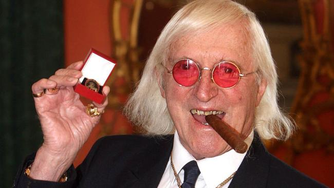 Disgraced: The late Jimmy Savile, branded one of Britain's worst sex offenders. The TV host was protected by the industry for years, but died with his reputation in ruins. Picture: AP