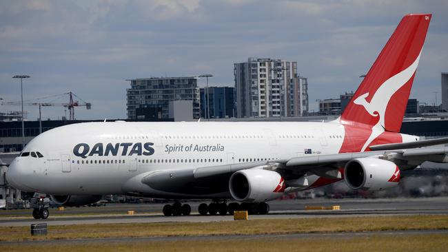 Qantas has 12 Airbus A380 aircraft. It won't be getting anymore. Picture: AAP Image/Dan Himbrechts.