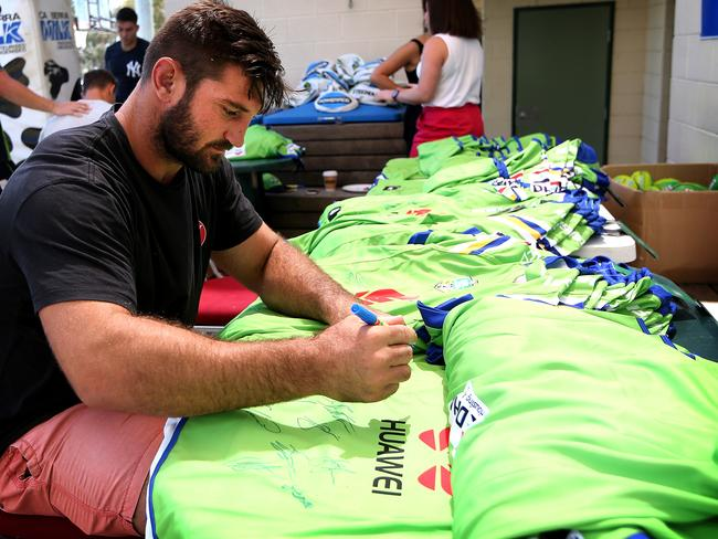 Dave Taylor at Raiders Headquarters in Canberra. Picture: Kym Smith