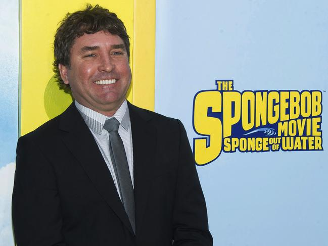 SpongeBob SquarePants creator Stephen Hillenburg attends the world premiere of The SpongeBob Movie: Sponge Out Of Water in New York in 2015. Picture: AP