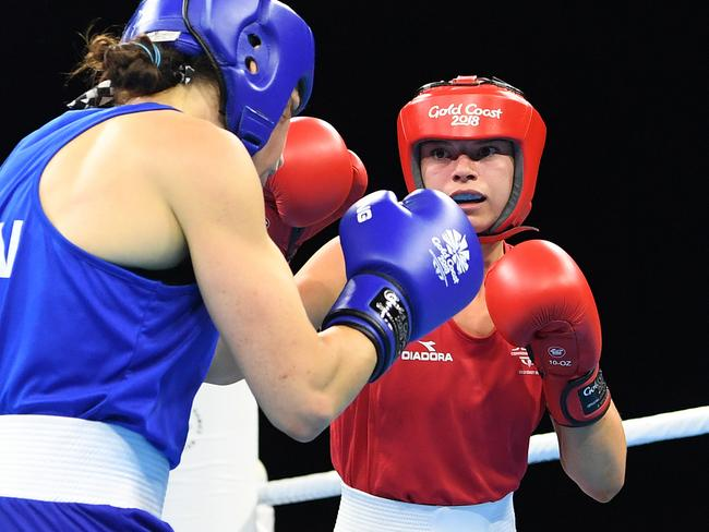 Nicolson beat Sabrina Aubin-Boucher 4-1 in the semi-final. Picture: AAP Image/Dan Peled