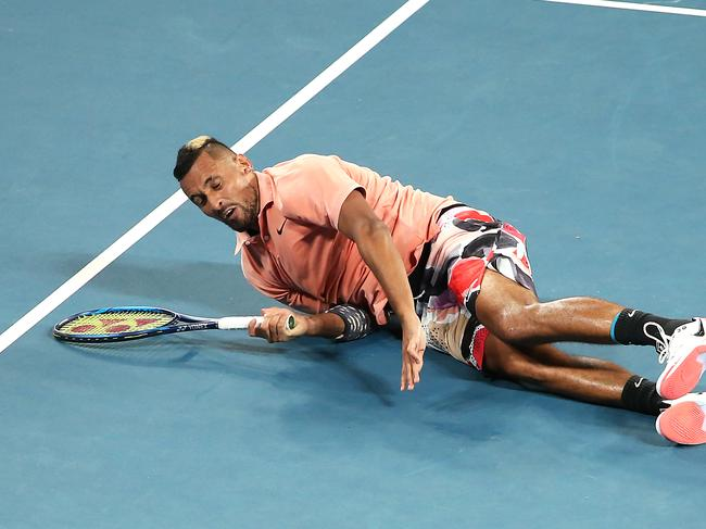 Nick Kyrgios bled for the win.