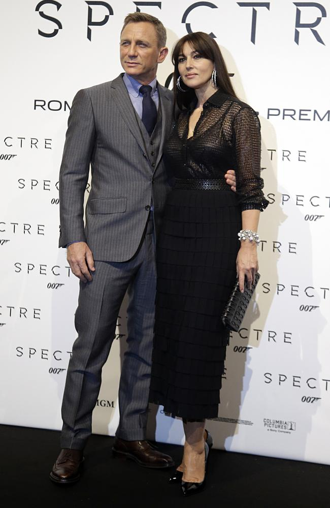 Actors Daniel Craig and Monica Bellucci looking great together (normal even?) at the Rome premiere of Spectre 007. Picture: Gregorio Borgia / AP Photo.