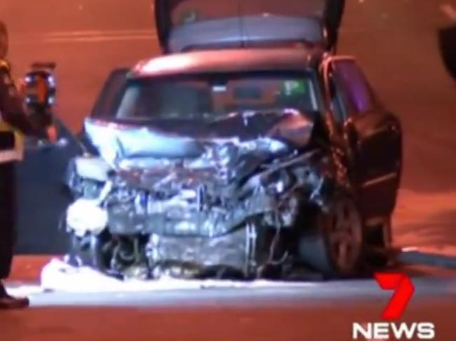 The Mazda involved in a fatal collision at Oakleigh East on Sunday. Picture: 7 News