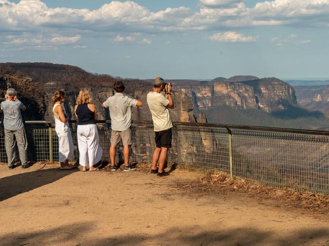 Blue Mountains after the fires has begun to rebuild, and is well and truly open. Picture: Jay Evans