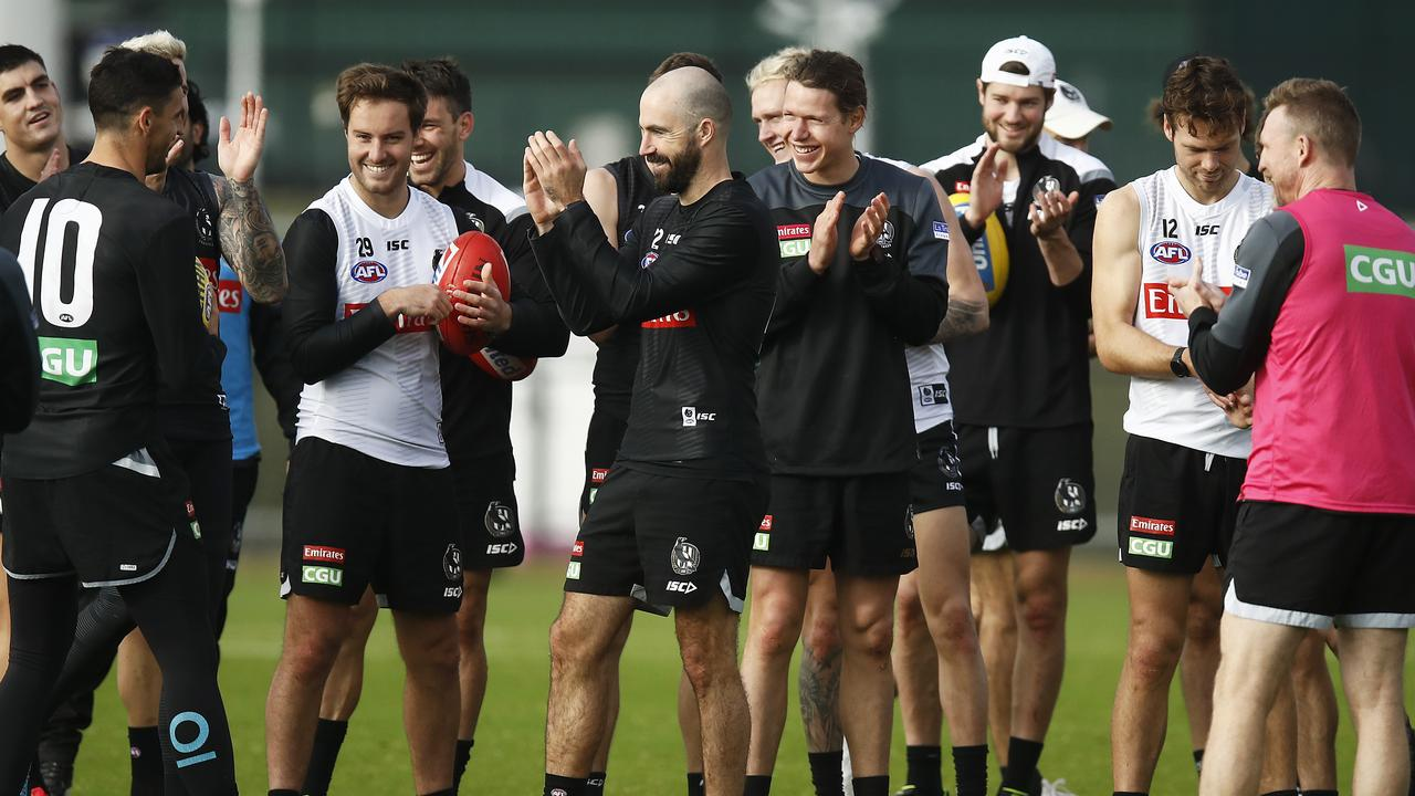 Collingwood players need to step up after a tough week. Photo: Daniel Pockett/Getty Images.