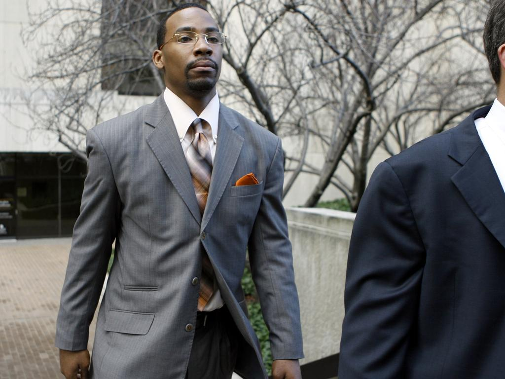 Washington Wizards' guard Javaris Crittenton leaves D.C. Superior Court in Washington, USA 25 Jan 2010. Crittenton has been sentenced to a year of unsupervised probation after pleading guilty to a misdemeanour gun charge stemming from a dispute with teammate Gilbert Arenas.
