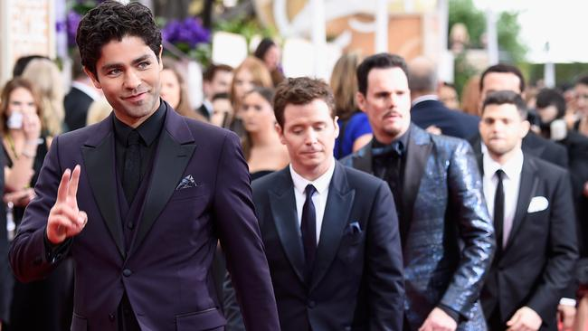 BEVERLY HILLS, CA — JANUARY 11: (L-R) Actors Adrian Grenier, Kevin Connolly, Kevin Dillon, Jerry Ferrara, and Jeremy Piven attend the 72nd Annual Golden Globe Awards at The Beverly Hilton Hotel on January 11, 2015 in Beverly Hills, California. (Photo by Frazer Harrison/Getty Images)
