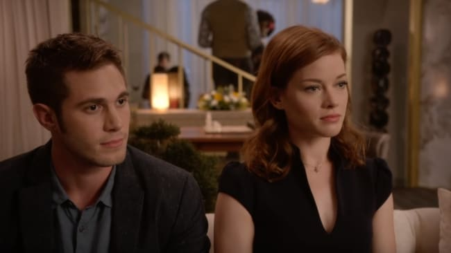 Jane Levy and Blake Jenner play the newlyweds. Image: Netflix