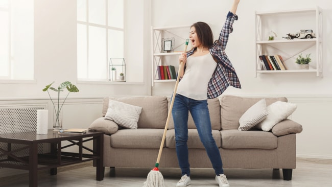 Dancing while cleaning burn calories. Image: iStock.
