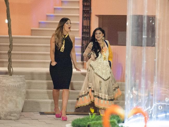 "Big Brother ""power couple"" Priya and Katie enter the house."
