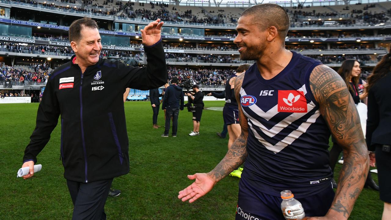 Fremantle coach Ross Lyon has been urged to play hardball with Bradley Hill.