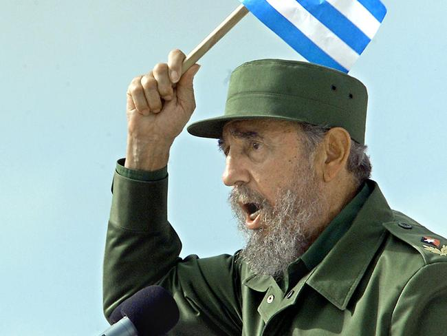 Love him or hate him, Fidel Castro is one of the most influential figures of the 20th century. Picture: AFP
