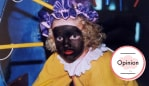 Nienke van der Peet as a child celebrating Sinterklaas and dressed as Zwarte Piet. Image: Supplied.