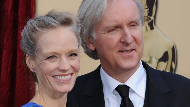 Suzy Amis with husband James Cameron. Picture: AFP Photo/Mark Ralston