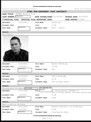 Freedom of Information documents obtained by Buzzfeed show the Secret Service investigated Eminem for lyrics about Ivanka Trump.