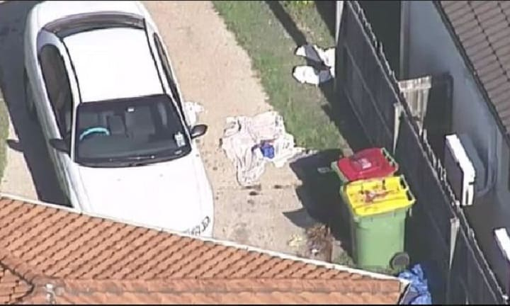 The young male suffered serious injuries and was taken to hospital. Picture: 9 News Queensland