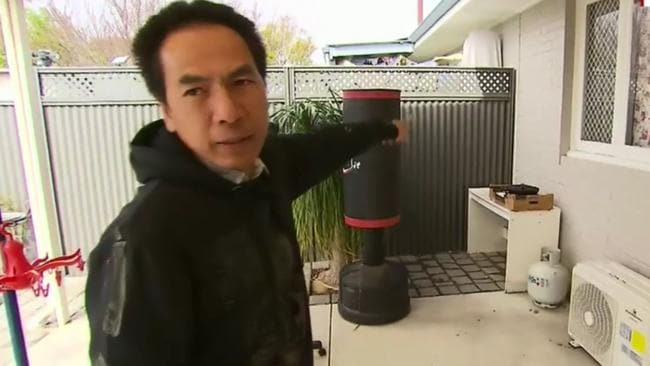 Toan Vu said he removed the barbecue in an effort to keep the peace. Picture: Nine News