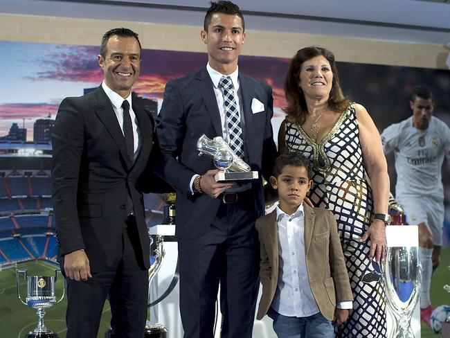 Cristiano Ronaldo with his agent Jorge Mendes.