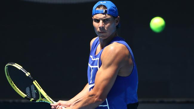 Rafael Nadal insists he's primed for a big tilt at this year's Australian Open.