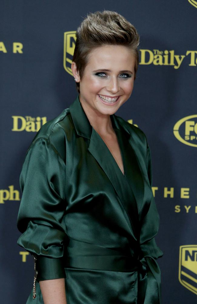 Tessa James was positively glowing at the recent Dally M Awards. Those avocados must be working. Picture: Richard Dobson