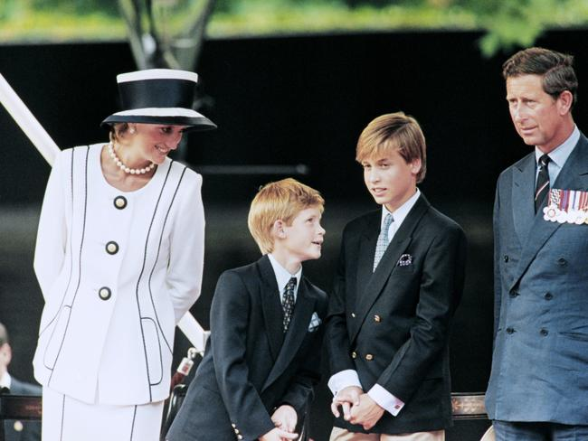 Prince Harry said he is reminded of his mother, Princess Diana everyday. Pictured, the princes in 1995. Picture: Johnny EGGITT / AFP.