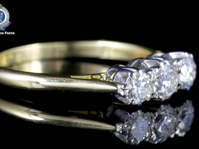 Police have released pictures of a ring similar to the one Ms Bowie owned. Picture: NSW Police