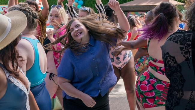 Shrill's season one pool party was a high point. Picture: SBS
