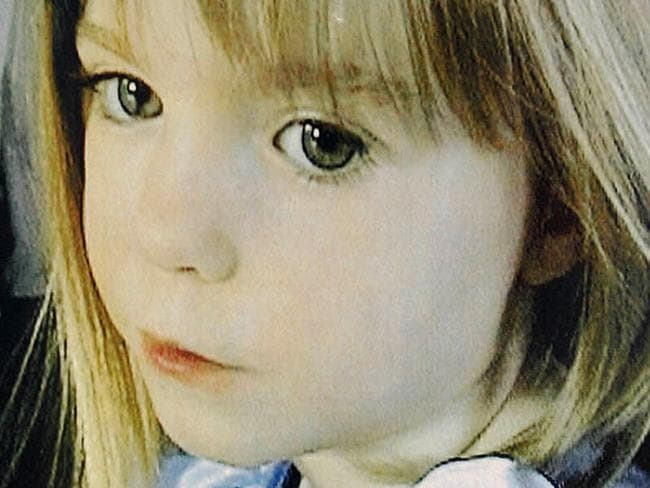 Close-up of a poster featuring British girl Madeleine McCann pasted on a street in the southern Portuguese beach resort of Lagos in 2007.