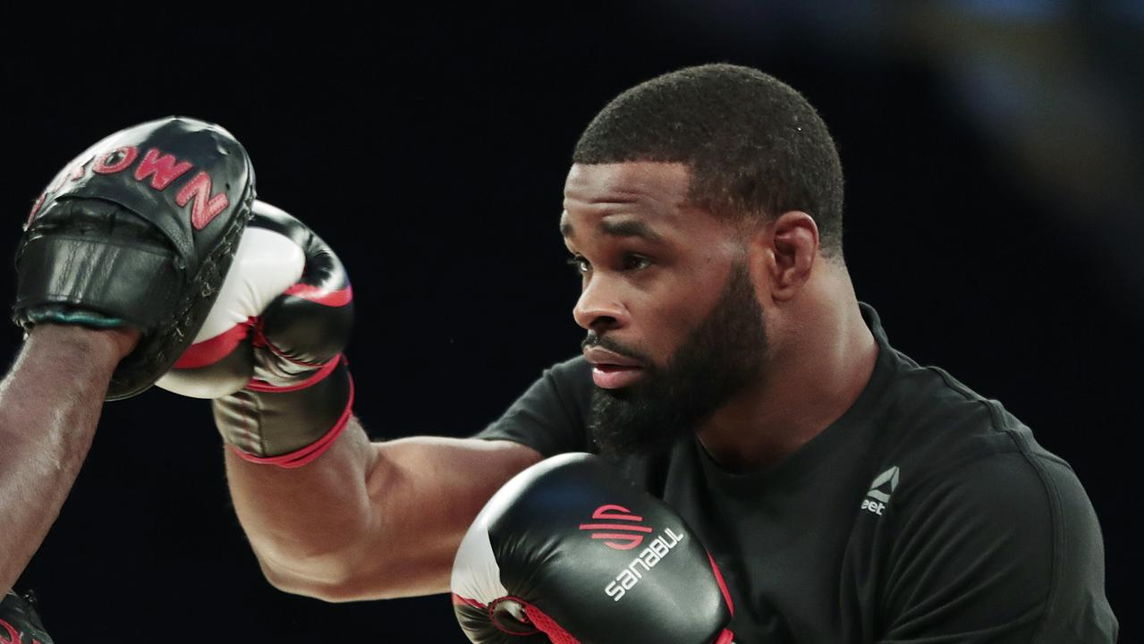 Tyron Woodley and White disagreed on his public stance on racism. (AP Photo/Julio Cortez, File)