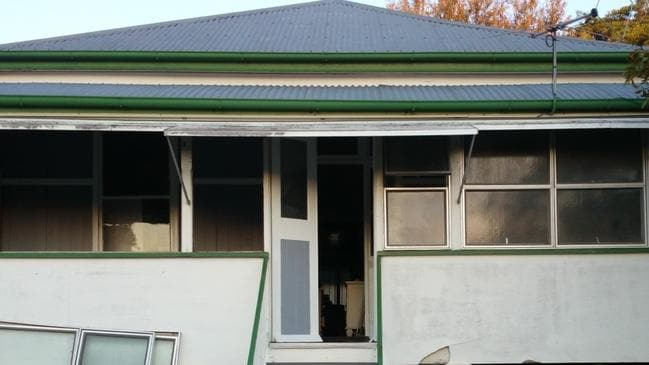 BEFORE: A close-up of the front of the house at 101 Victoria St, Windsor, pre renovation.