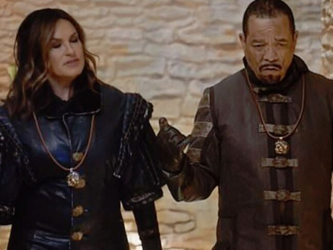 Mariska Hargitay and Ice T starred in their own GoT spin-off. Picture: NBC