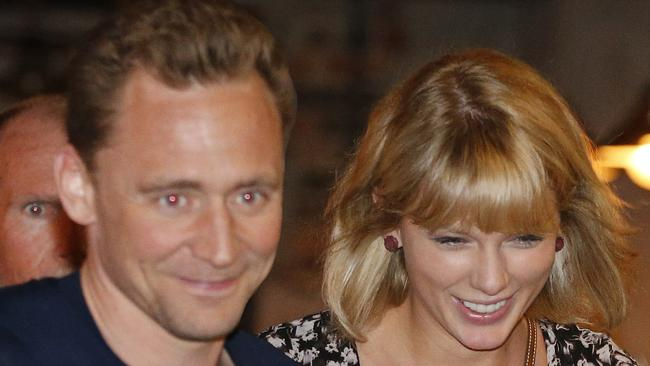 Taylor Swift and Tom Hiddleston in Australia during their brief romance. Picture: Jerad Williams