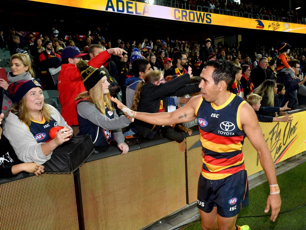 "Gilbert McAdam called Eddie Betts a ""cult hero"" at Adelaide Crows"