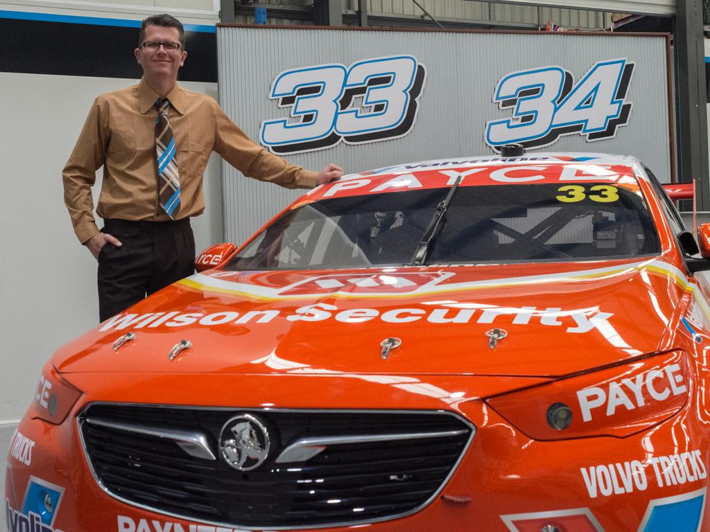Garth Tander with his retro-look Holden.