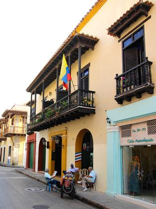 Out and about in Cartagena. Picture: David Louie