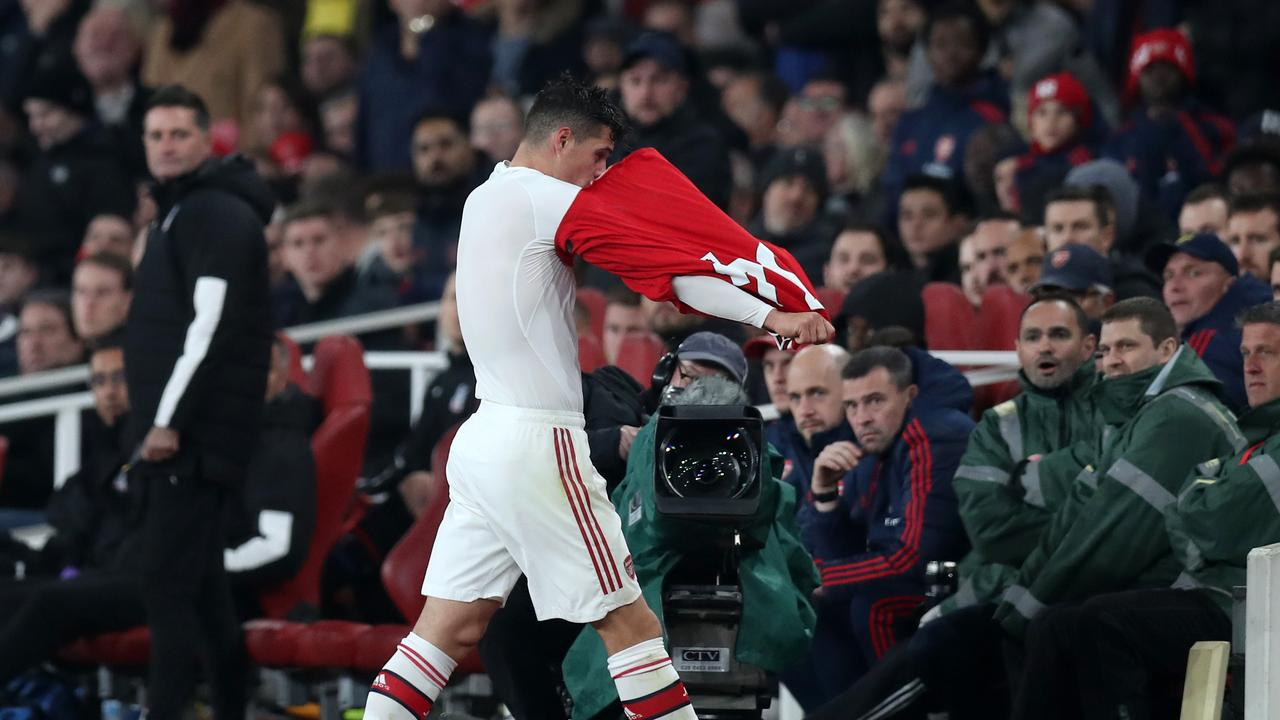 Granit Xhaka has been ruled out of Arsenal's clash against Wolves.