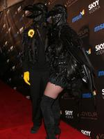 What do you call a group of crows? A murder you say? Interesting ... Heidi Klum and singer Seal arrive at the Heidi Klum's 10th Annual Halloween Party on October 31, 2009 in Los Angeles, California. Picture: Getty
