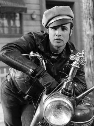 Brando, pictured here in 'The Wild One', died in 2004, aged 80.