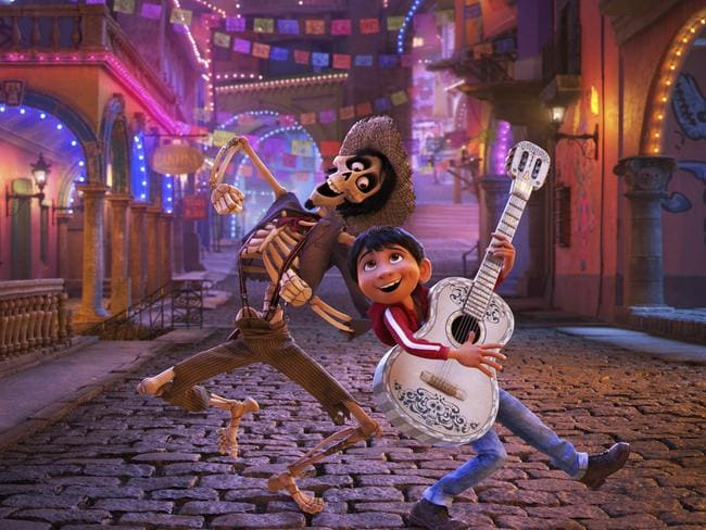 Coco is favourite to take out best animated picture at the Oscars. Picture: Disney-Pixar via AP