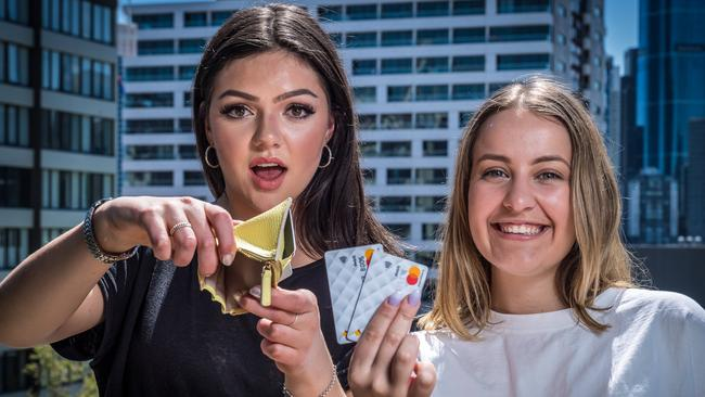 Younger Australians are most likely to use cards for small transactions. Picture: Jake Nowakowski