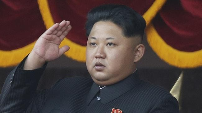 First comments ... North Korean leader Kim Jong Un says the weapons test was a 'self-defensive step'. Picture: AP/Wong Maye-E
