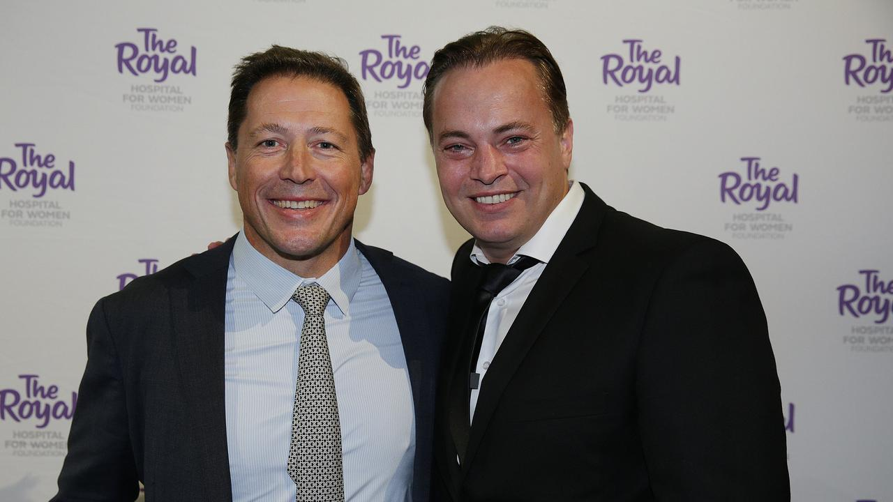 Former Wallabies captain Phil Kearns and goalkeeping great Mark Bosnich.